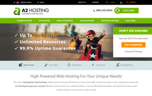 Have a look at the homepage of A2Hosting