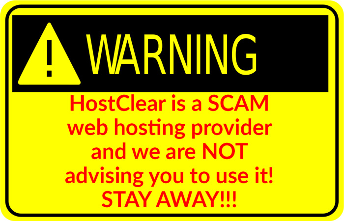 HostClear is a SCAM
