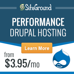 Performance Drupal Hosting by Siteground